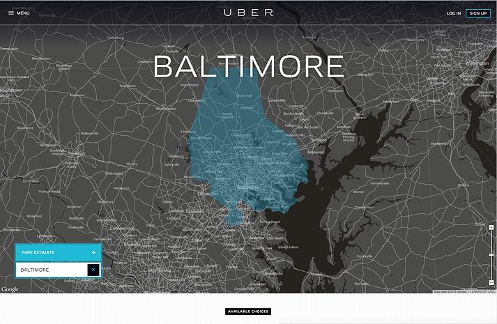 eCommerce Landing Page Design Best Practices - Uber's Logo