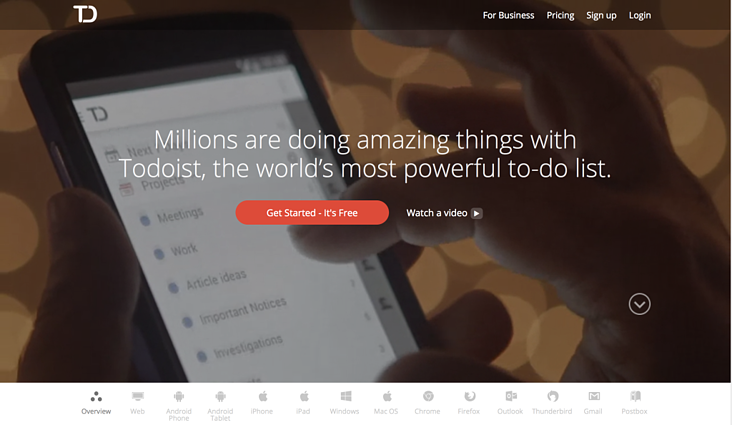eCommerce Landing Page Design Best Practices - Todolist's CTA