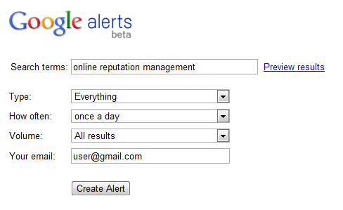 Groove Commerce shows you how to set up Google Alerts