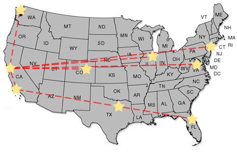 CDN Hosting Map