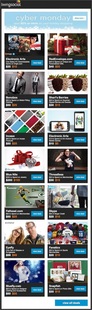 Holiday Email: Living Social