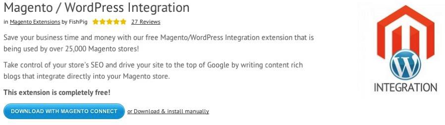Integrating Magento and WordPress with FishPig