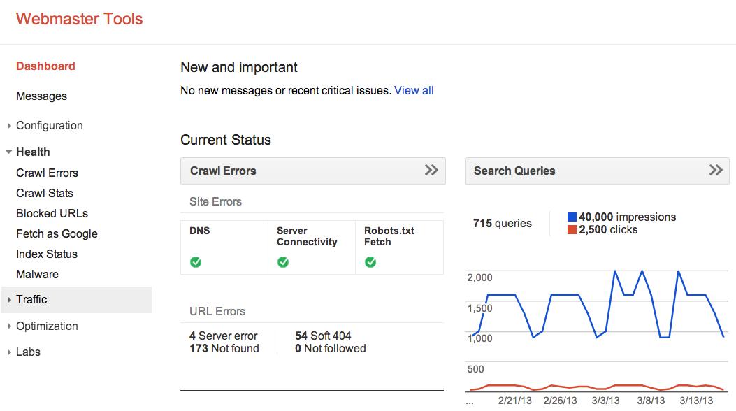 Google's Webmaster Tools