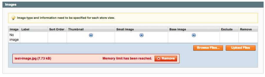 Magento Error: Memory Limit Has Been Reached
