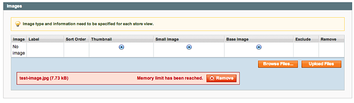 Magento Error: Memory Limit Has Been Reached