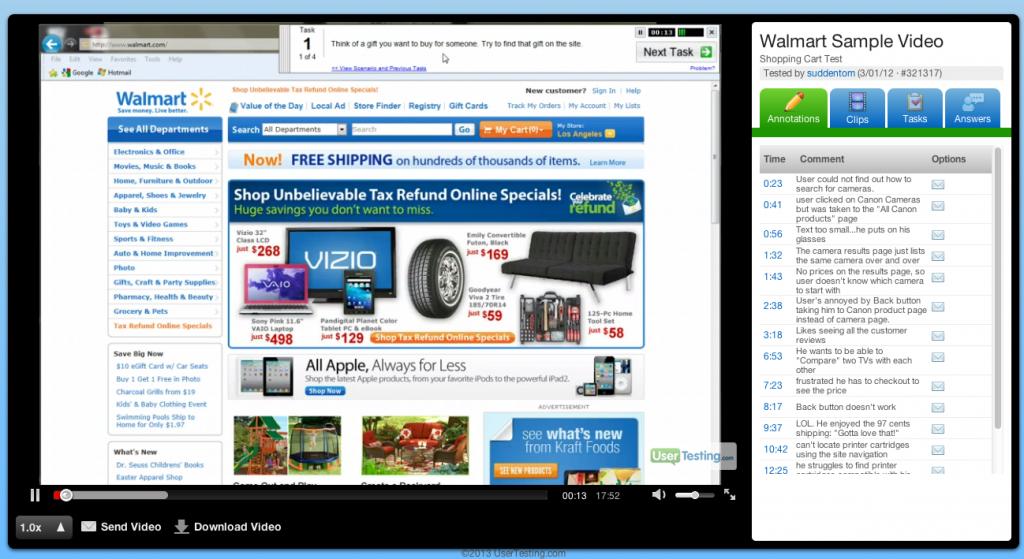 UserTesting.com screenshot