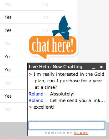 Olark chat