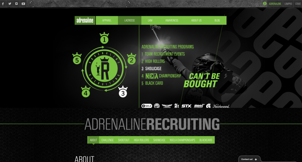 Adrenaline Website Redesign