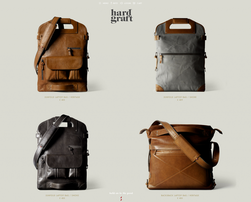 www.hardgraft.com is a great example of simple functional design