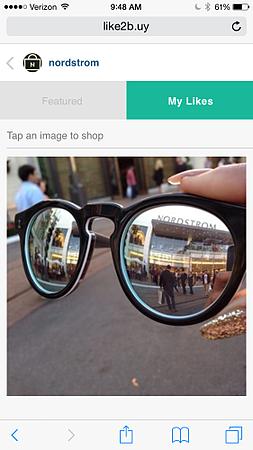 Social commerce platform Like2Buy Monetizes Instagram - Nordstrom's MyLikes page