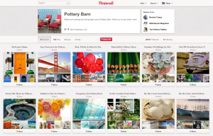 Pinterest - Pottery Barn Product Page