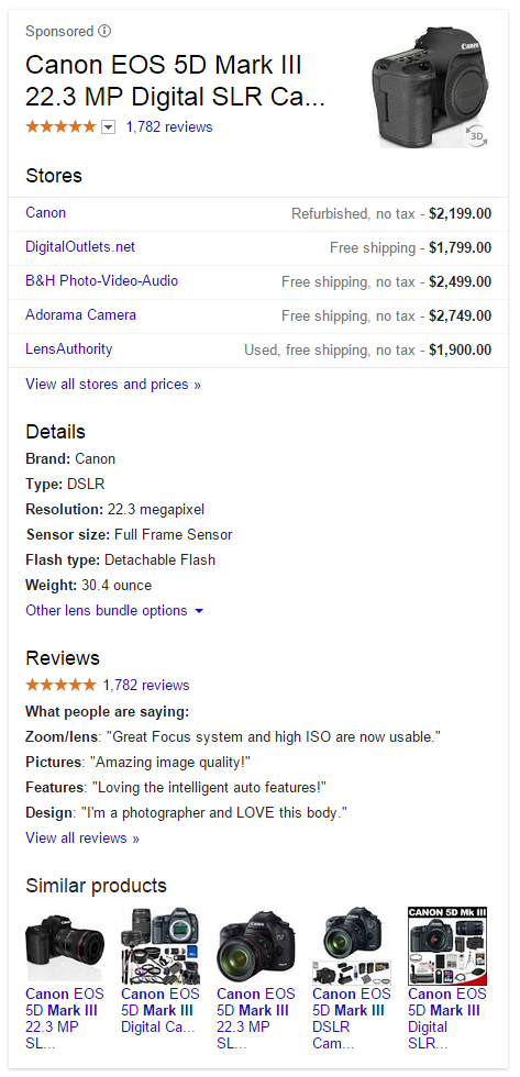 AdWords Product Listing Ad