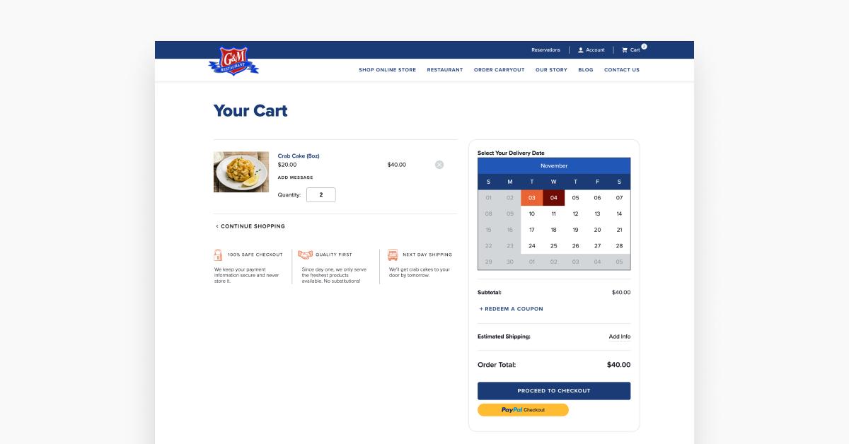 Shipping Food: The Custom Shipping Calendar App We Created