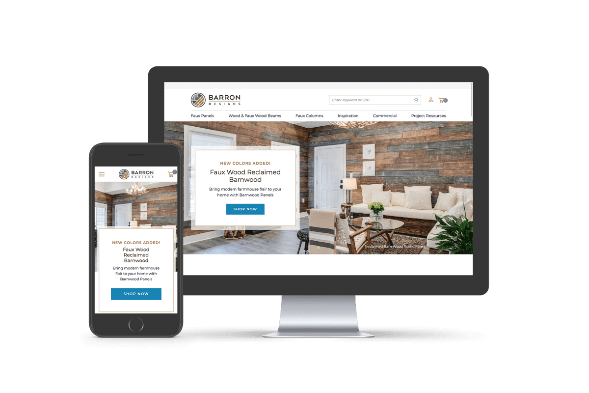 Barron Designs: New Website Design With The Help of Groove Commerce