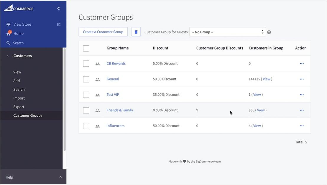 BigCommerce HubSpot Customer Groups