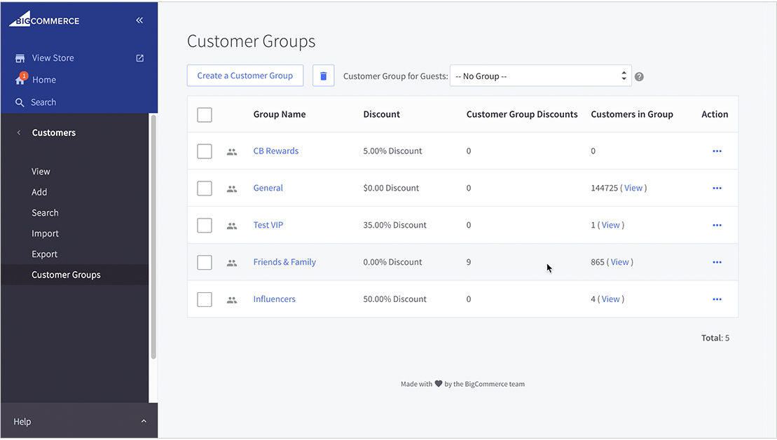 BigCommerce HubSpot Customer Groups
