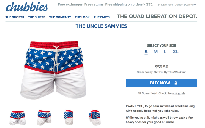 eCommerce Landing Page Design Best Practices - Chubbies Landing Page