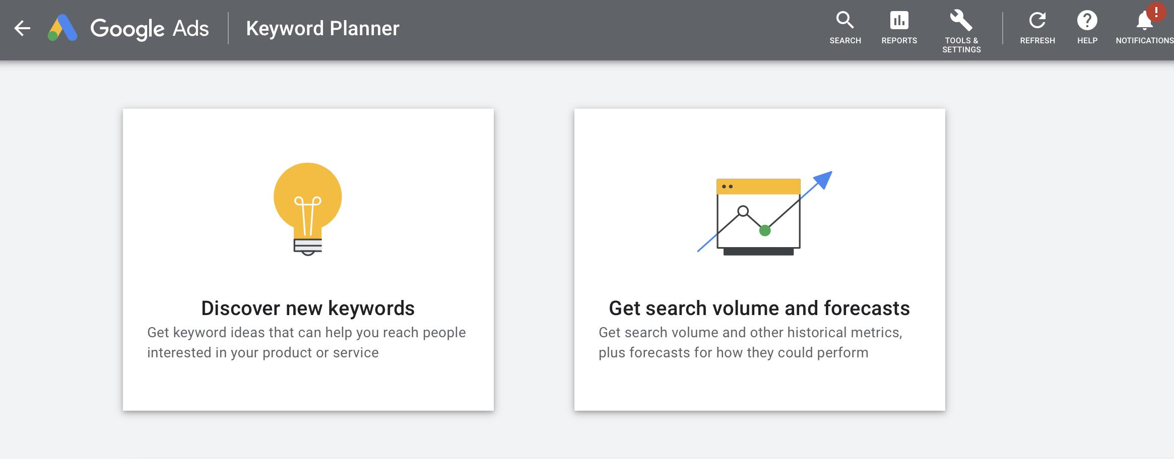 Google Ads Keyword Planner: 2 Tools