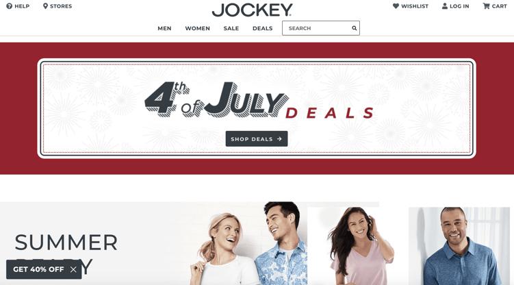 Increase Average Order Value: Jockey Deals Section