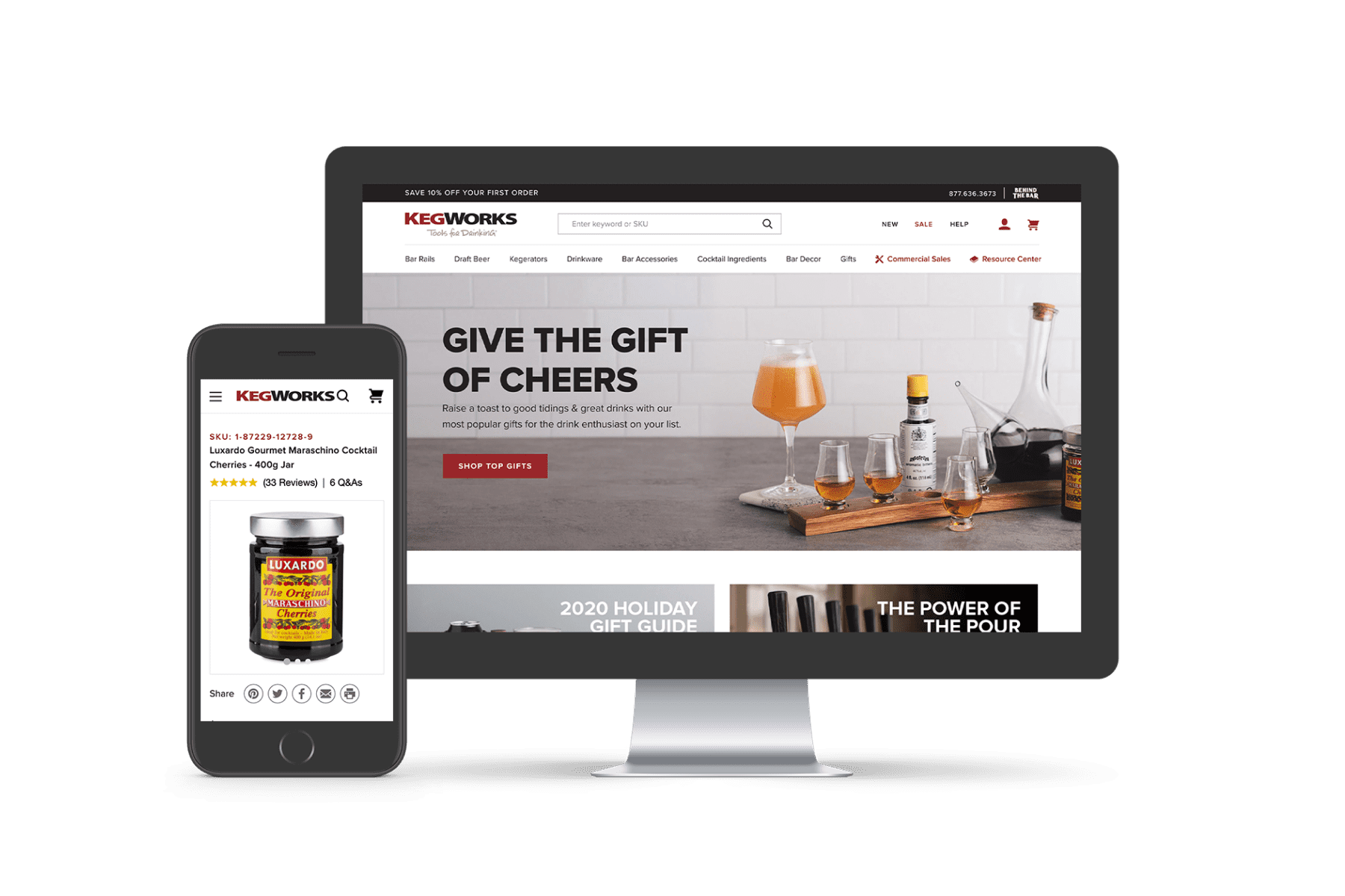 KegWorks Website After Working With Groove Commerce