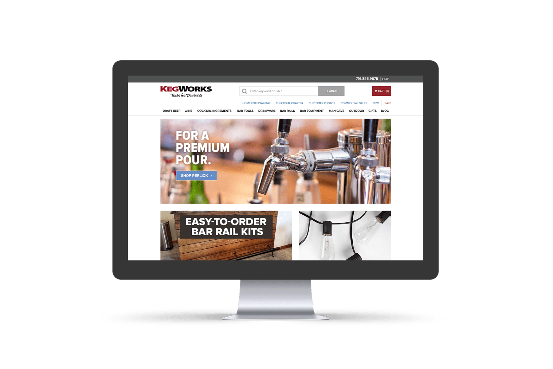 KegWorks Website Before Working With Groove Commerce