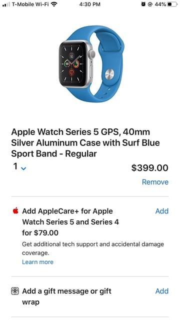 Mobile Shopping Cart Design: Apple