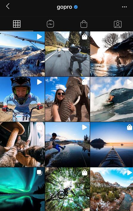 Social Media Branding Examples: GoPro Product Photography
