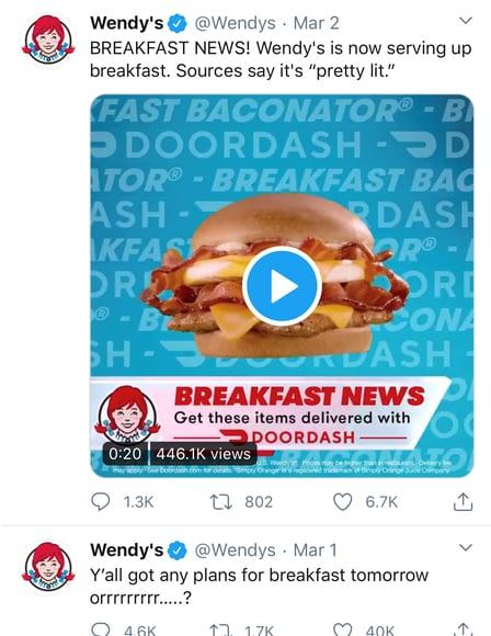 Social Media Branding Examples: Wendy's Twitter