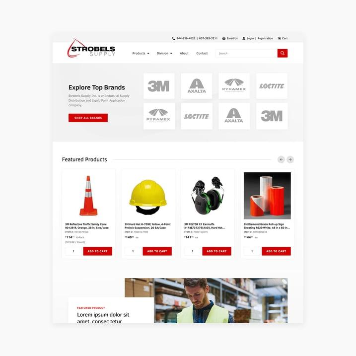 Website Migration: Strobels Supply On BigCommerce