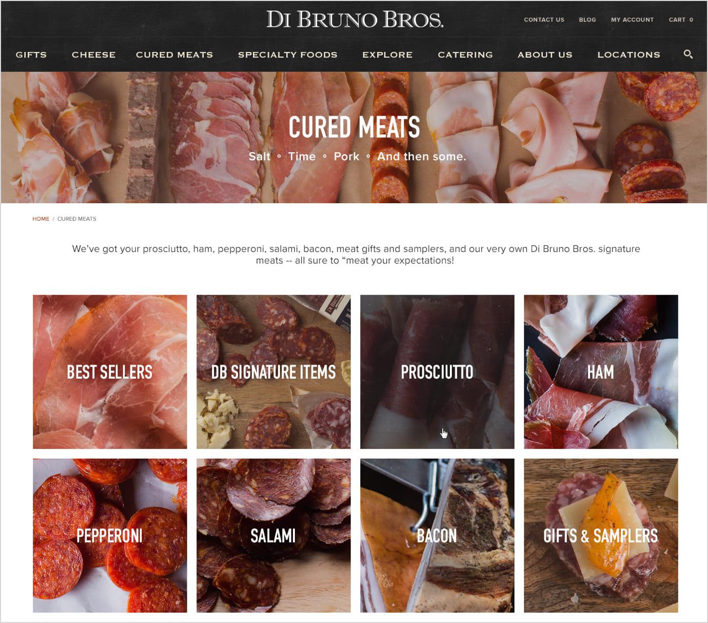 DiBruno Bros Category Page