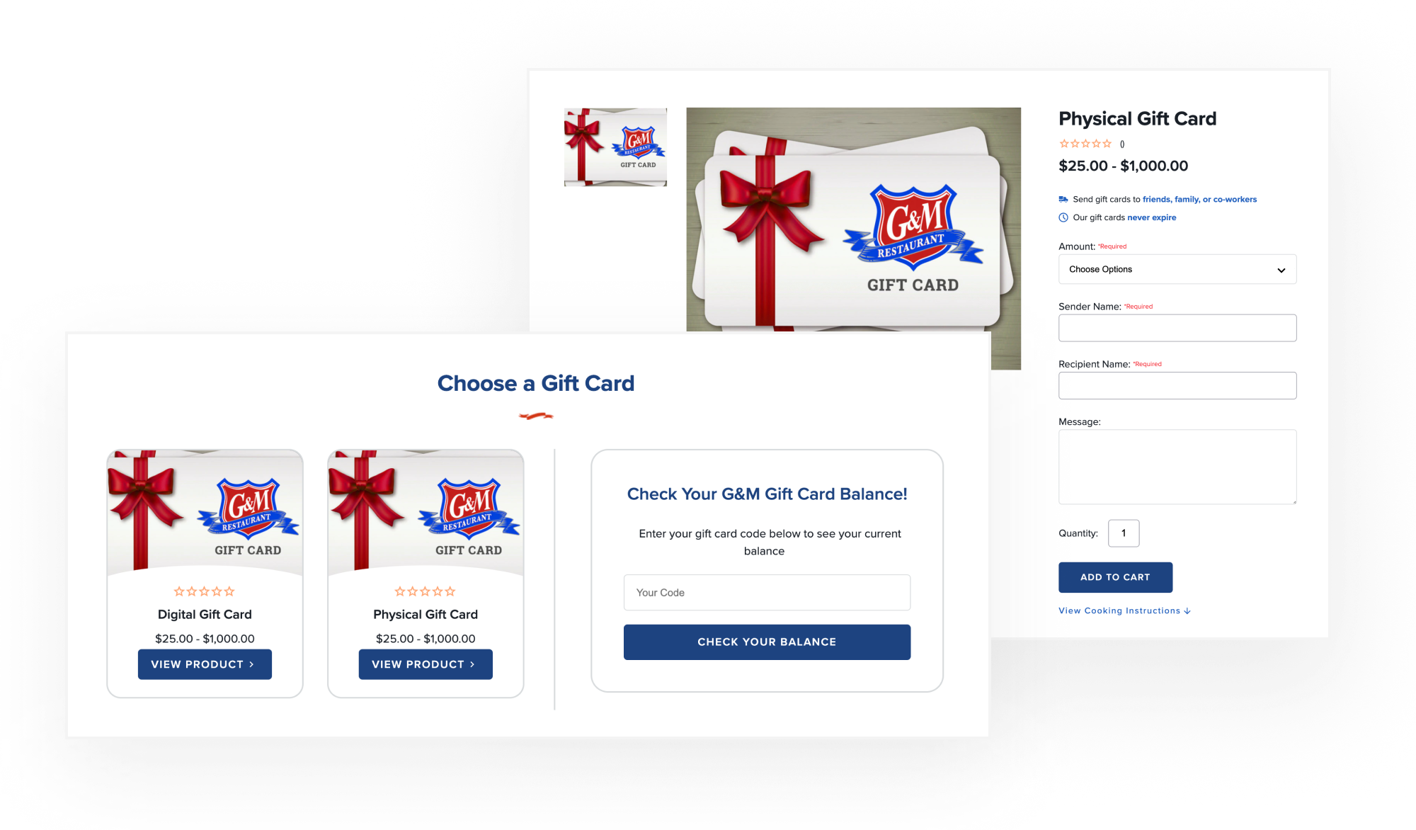 BigCommerce Givex Integration: Custom Gift Card Functionality